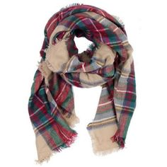 Plaid Blanket Scarf (21.785 HUF) ❤ liked on Polyvore featuring accessories, scarves, blanket scarf, tartan blanket scarf, tartan shawl, tartan plaid shawl and plaid shawl