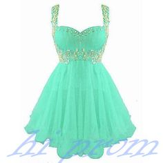 Mint Green Homecoming Dress,Chiffon Homecoming Dresses,Straps Homecoming Gowns,Short Prom Dress,Gold Beading Prom Dresses,Sweet 16 Dress,Evening Dresses For Teens