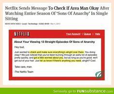 Good guy Netflix.   hahahahaha