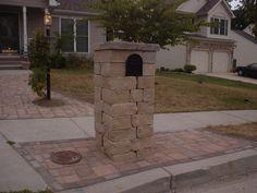 Chapel Wall mailbox column