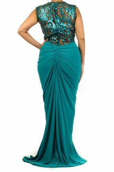 Sexy Plus Size Evening Gown - 3X