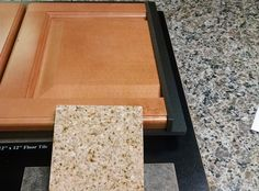 Fairfield Square Maple Honey Cabinets With Wheat Granite.