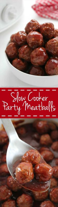 Slow Cooker Cocktail Meatballs - Sweet with a little bit of spicy kick. Make for a perfect party appetizer. Made right in your Crock-Pot!