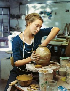 someday I want a space with a wheel and a kiln so I can get back into ceramics and clay sculpture again