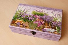 Unique OOAK Wooden Tea Box by BeauMiracle, $62.00