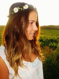Flower crown headband #hairsyles #boho