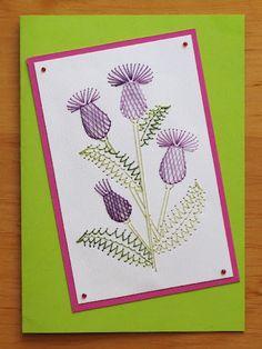 Wyszywanki matematyczne - aksjusza - Picasa Web Albums Embroidery Cards, Hand Embroidery Patterns, Cross Stitch Embroidery, Stitching On Paper, Quilt Stitching, Cute Sewing Projects, Sewing Cards, Thread Art, Button Art