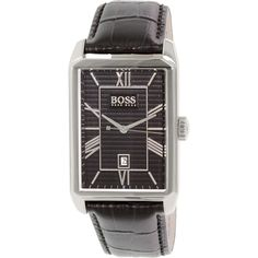 Hugo Boss Men's 1512968 Black Leather Quartz Watch
