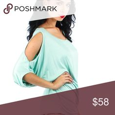 ✖️Cheeky Charlotte Off the Shoulder Tops✖️ Lovely and lightweight, this top boasts a captivating open-shoulder design and sensational style from any angle!  95% Rayon, 5% Spandex Runs true to size Model is wearing a size small Hand wash cold, do not bleach. Hang or line dry. Made in the USA🇺🇸✖️ɴᴏ ᴛʀᴀᴅᴇs✖️📲aғтer yoυ pυrcнaѕe coммenт wιтн preғerred color: 1) jade 2) вlacĸ 3) wнιтe or 4) navy 📲 The Haute Holly-Would Hive LLC Tops