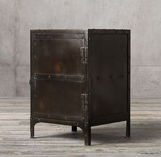 RH's Industrial Tool Chest Side Table:An exact replica of an early French industrial original, this tool box was used by workers in an automobile factory to store their personal set of tools under lock and key. Under Lock And Key, French Industrial, Restoration Hardware, Tool Box, Great Rooms, Locker Storage, New Homes, Tools, Devil