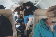 for those of you asking how I fit in that tiny plane........i didn't ( @genmakeup)