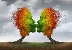 Autumn Love Romance Fall stock photos and royalty-free images, vectors and illustrations Stop Fighting, Tree Shapes, Couple Relationship, Healthy Relationships, Black Art, Royalty Free Images, Illustration, Marriage, Concept