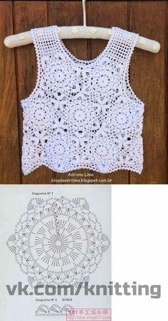 Crochet Symbols, Crochet Motif, Crochet Doilies, Crochet Top, Crochet Summer, Crochet Dress Girl, Crochet Jacket, Crochet Clothes, Lace Jacket
