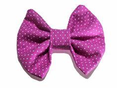 Laço para Bebê e Meninas Handmade Caroline - Tam. M - Pink com Bolinhas Brancas    50% Off
