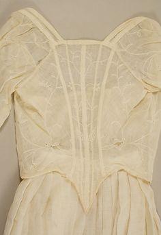 Dress Date: ca. 1785 Culture: French Medium: mull Accession Number: 17.107.6a, b