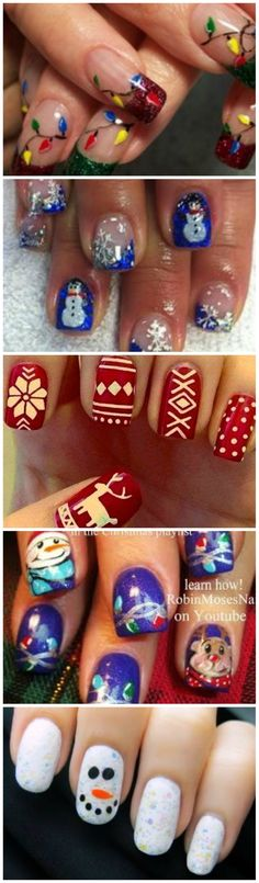 Learn How To Make Christmas Themed Nail Art