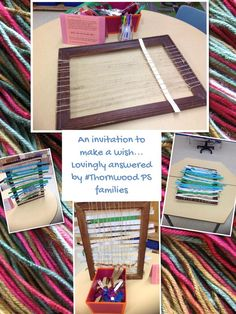 "Lovely invitation to make a wish at Thornwood PS - from kids connect (‏KinderFynes on Twitter) ("",) Weaving"