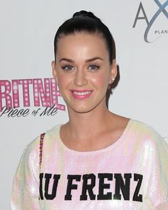 Pin for Later: The Bright Lipstick Looks You Shouldn't Be Too Scared to Try Katy Perry Katy's simple makeup look and casual outfit were lifted instantly by her candy-pink lipstick when she attended a Britney Spears concert in Las Vegas.