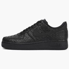 Nike Air Force 1 07 LV8 Mens 718152-007 Black Crocodile Shoes Sneakers Size 10.5