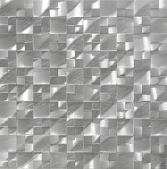 Aluminum Mosaic Tile Raised Multi Pattern is mesh mounted on a sheet for an easy installation. Made out aluminum, this mosaic tile is suitable for kitchen backsplash, bathroom wall (not shower), and feature wall. 3d Tiles, Mosaic Wall Tiles, Kitchen Wall Tiles, Bathroom Wall, Kitchen Backsplash, Mosaics, Stainless Steel Sheet, Curved Glass, Contemporary Decor