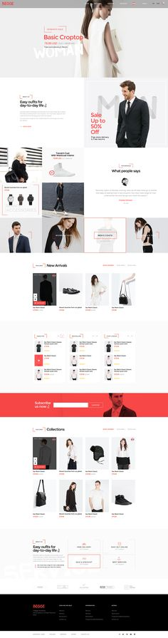 Begge ver.02 - Coolest Fashion Shop PSD & HTML on Behance