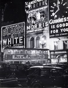 "Bill Brandt's 1940 ""Piccadilly Circus before the Blackout"" http://www.deborahkuschner.com/dynamic/artwork_detail.asp?ArtworkID=35"