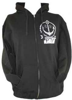 Amazon.com: Pierce the Veil PTV Mens Zip Up Hoodie Sweatshirt - Anchor Logo Front, Coffin Rope Logo Back on Black (XX-Large): Clothing