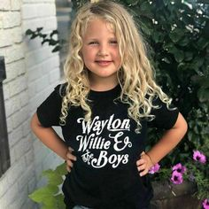 Waylon, Willie and the boys, Unisex sizing, soft feel tee Western Outfits, Western Shirts, Western Apparel, The Office Tshirt, Concert Shirts, Muscle Tank Tops, Collar Styles, T Shirts For Women, Clothes For Women