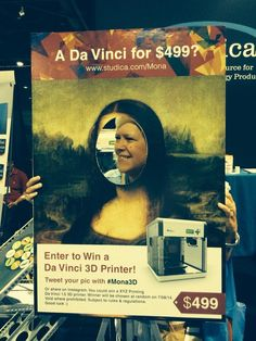 I want to win a Da Vinci 3 D Printer !#Mona3D