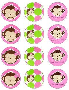 Kit imprimible gratuito de Mod Monkey. Puedes hacertarjetas,invitaciones,etiquetas para agua,toppers y wrappers para cupcakes, marcos para fotos, cajas, rótulos, y lo que se te ocurra. Recuerda hacer clic en la imagen antes de guardarla para tener su máxima calidad.