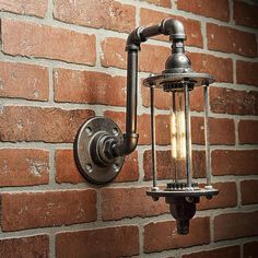 A handmade industrial chic sconce that is sure to add a truly charming accent to any home. This unique and re-imagined blend of metal pipe fittings and threaded rod create a unique light that will surely add a warm and welcome atmosphere to your home or business. This is sure to become the topic of