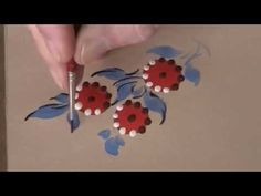 Bauernmalerei - Decorative Painting - Sm. Stylized Flowers Instructional Video - YouTube