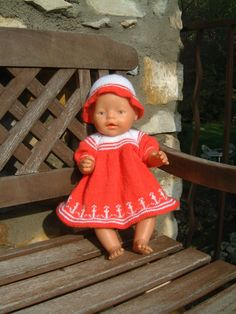 Baby Born Kleidung, Tricot Baby, Baby Born Clothes, Bitty Baby, Southern Belle, Diy Flowers, Baby Knitting, American Girl, Baby Dolls