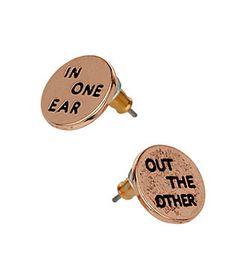 In One Ear Stud Earrings #TopShop