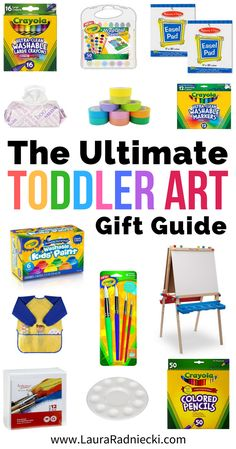 The Ultimate Toddler Art Gift Guide includes gift ideas for kids who love art, so they can start creating kids crafts and artwork, and foster creativity from a young age. Art supplies for babies and toddlers who love art. #art #toddlerart #diy #kidart #kidcrafts #giftguide