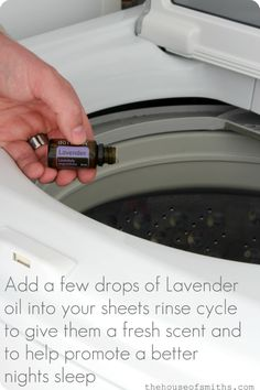 Using Lavender in your rinse cycle to freshen up sheets! #laundrytips #lavender #houseofsmiths