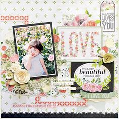 Hello!Shimmerz Friends! It's Yuko here!   Today.I made the layout of the springlike hue using the photograph    in the rose park.     ...