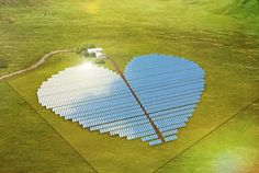Solar Panels in the Shape of a Heart Will Show Love for the Planet