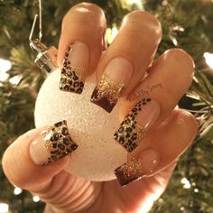 Winter Leopard Nails  by NailedByStacy - Nail Art Gallery