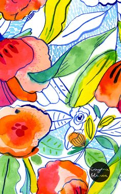 #pattern watercolours