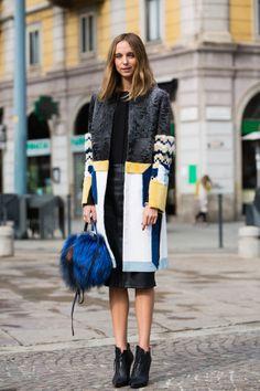 Streetlooks à la Fashion Week automne-hiver 2014-2015 de Milan GlamourParis