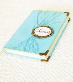 Personalized Leather Journal Diary Turquoise Travel by AnnaKisArt