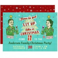 Funny Christmas Party Retro Adult Drinking Holiday Invitation Adult Christmas Party, Christmas Drinks, Xmas Party, Family Christmas, Christmas Humor, Holiday Parties, Holiday Cards, Christmas Tree, Christmas Drinking Games