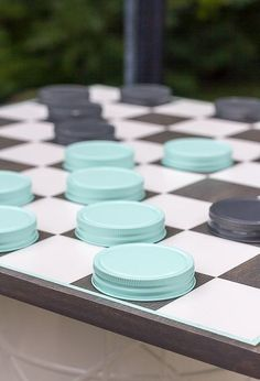 diy oversized checkerboard game, diy, outdoor living, woodworking projects