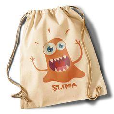 """""""Monster Slima"""" Cotton Gymsack von MAD IN BERLIN auf DaWanda.com"""
