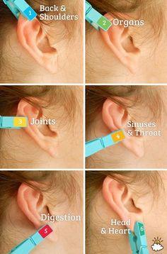 Ear Reflexology Using A Clothespin