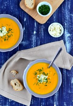 Krémová mrkvová polévka s tvarohovým sýrem Gervais Délicatesse   1001 Voyages Gourmands