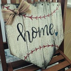 ⚾ Calling all baseball lovers!! This handmade wood baseball sign is perfect for any home this summer! This wood sign measures approximately 14x14 and displays a rustic, vintage baseball feel. It is painted in antique white with hand lettered black font, red baseball stitching and