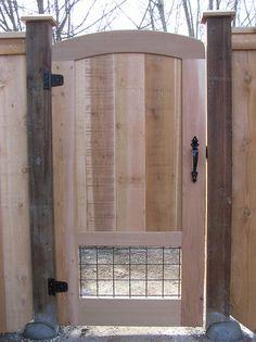 Gate with Doggie Window