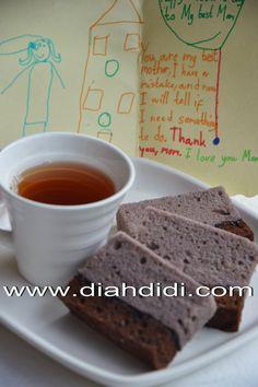 Diah Didi's Kitchen: Brownies Kukus Ubi Ungu Lapis Coklat